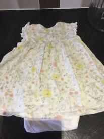 Girls Dresses x Two 12 - 18 Months