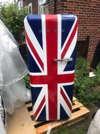 Brand New Union Jack Smeg Fridge Freezer