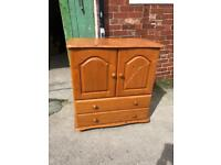Wooden tv cabinet with draws