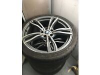 "20"" bmw alloys will fit a f10 or other models only 3 rims available but 4 tyres"