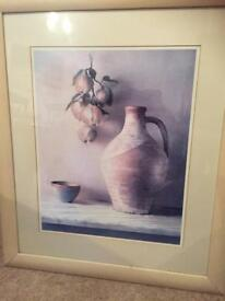 """Framed picture """"pitcher with pears"""""""