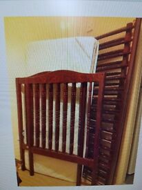 Mamas & Papas Mahogany Cot for Sale.