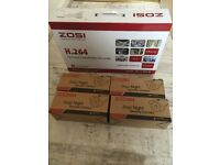 8 Channel Zosi H.265 HD 720p DVR + 4 Bullet Cameras and a 1Tb Drive