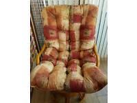 Cane Wicker Rocking/Swivel Chair