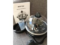 Bestek Electric 6 egg cooker used twice.