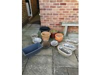 For sale assorted plant pots