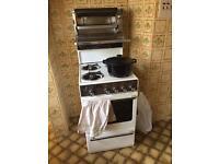Retro gas cooker & hob - Creda brand