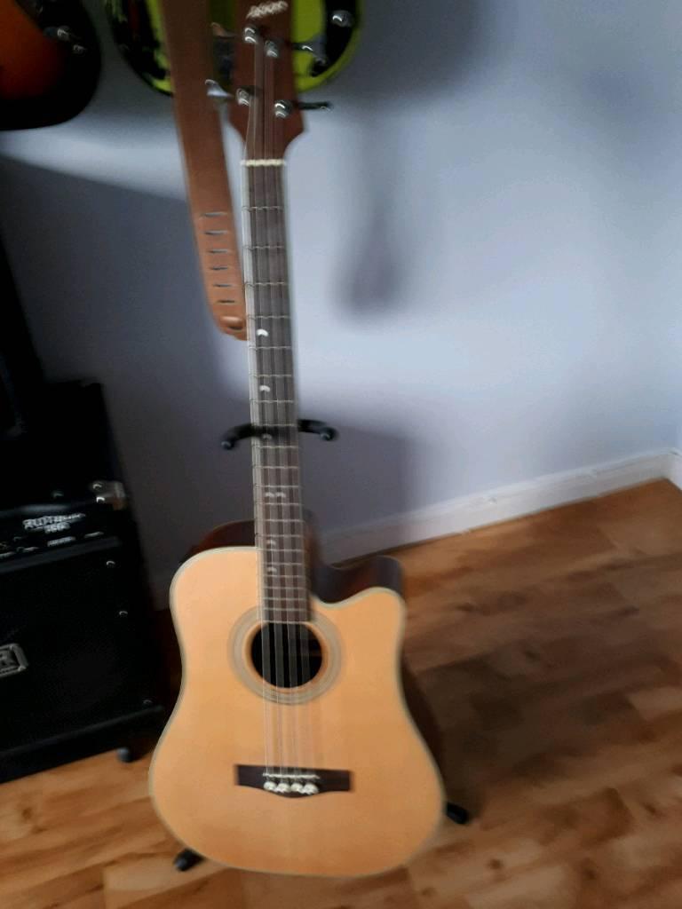Ashton accoustic bass guitar