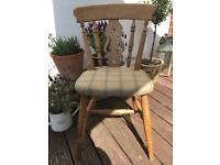 Country style dining chairs shabby chic oak