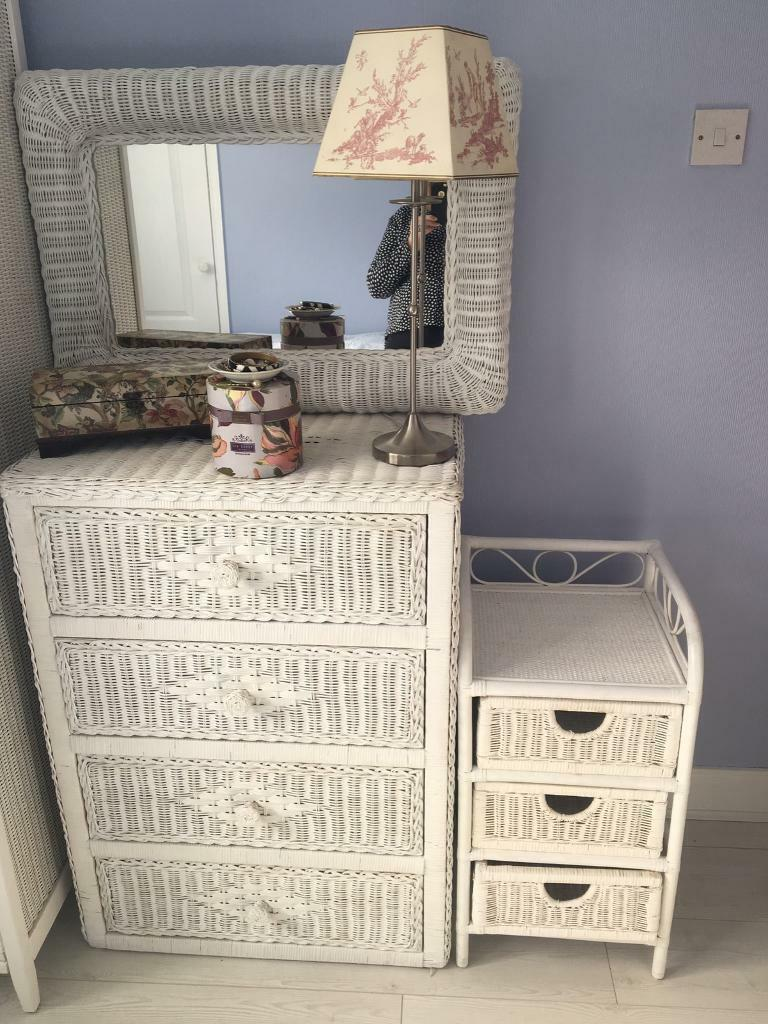 beautiful white wicker bedroom furniture | White rattan bedroom furniture | in Dunmurry, Belfast ...
