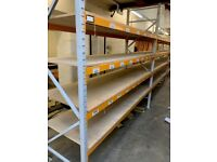 JOB LOT heavy duty apex industrial long span shelving ( pallet racking , storage)