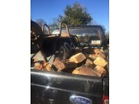Mixed fire wood - level load in pick up.
