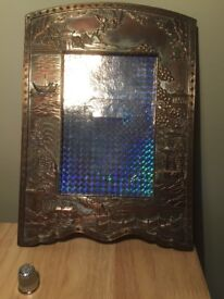 19th century copper and silver plated Far Eastern frame