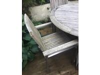 John Lewis garden furniture wooden and chrome