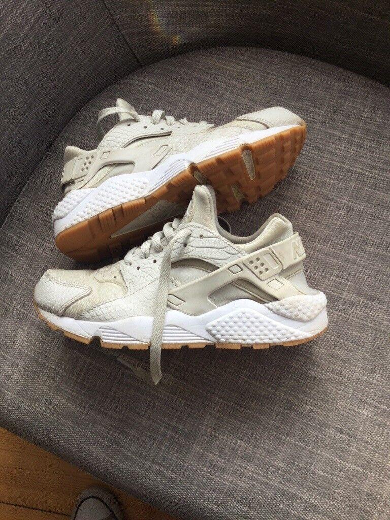 48f8cd8b5ad19 Nike Huarache trainers. size 5. Off-white cream colour. Smoke free home.  Good condition.