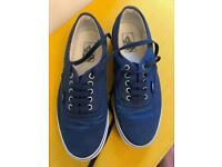 Vans Herringbone Mood Indigo shoes UK7