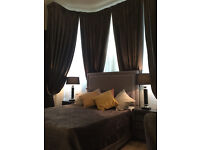 STYLISH FABRIC UPHOLSTERED BED FRAME CHENILLE LEATHER 5FT KING SIZE