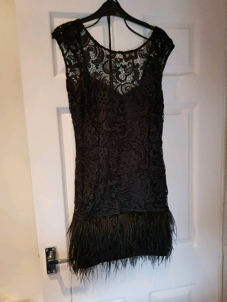 Lipsy feather dress for sale size 10
