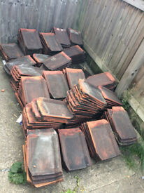 Roof tiles - 250 'Flat French' 50p as singles, batches or £100 job lot