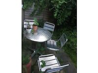 Stainless Steel Garden Table and Chairs