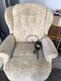 Electric recliner chair not in the best condition but all eorking