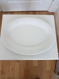Large, white serving dish