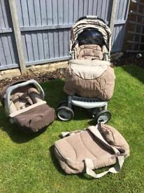 MOTHERCARE MOCHA DELUXE TRAVEL SYSTEM