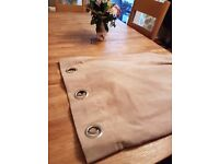 Pair of eyelet curtains - beige 90 inch x 90 inch