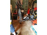 Cross trainer and exercise bike