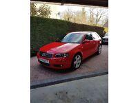 AUDI S3 QUATTRO MANUAL V6 RED 2005