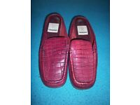 Ladies Saxone Red Slip On Loafer Shoes Size 3 IP1