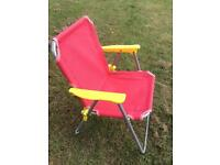 Toddlers beach / garden fold up chair