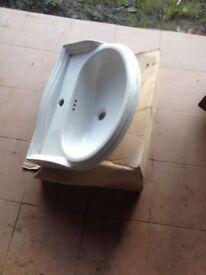 B&Q bathroom basen no pedestal New £5