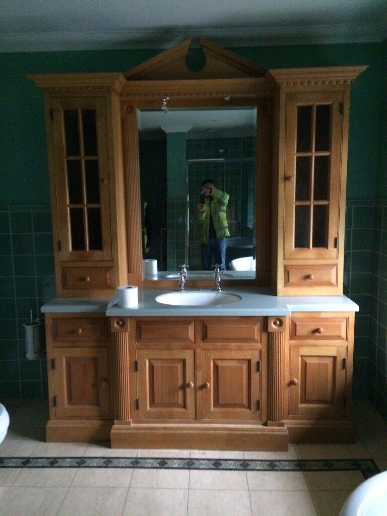(75% off) bathroom skink including timber surrounding