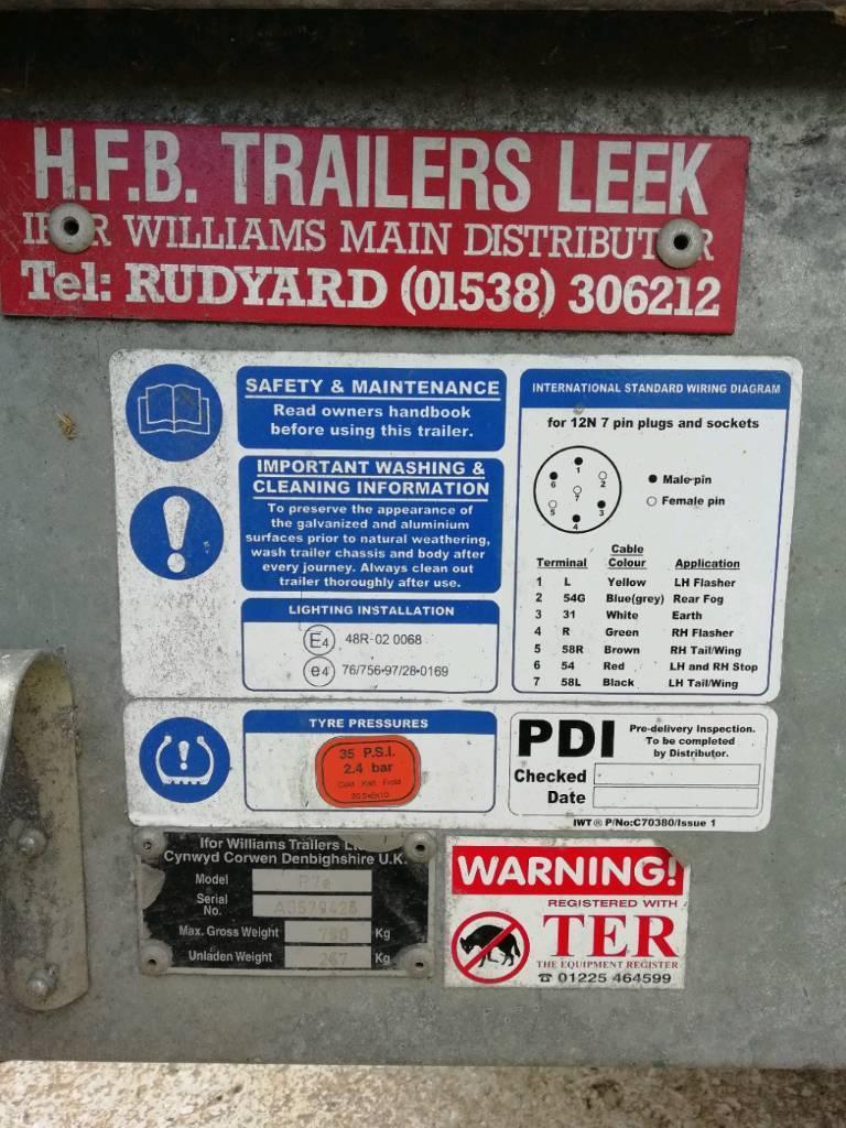 IFOR WILLIAMS P7E LIVESTOCK TRAILER   in Todmorden, West Yorkshire ...