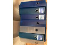 WHsmith A4 Lever arch files. 8 available in purple, blue, clear and teal.