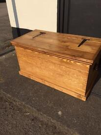 Solid pine chest /coffee table