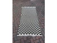 Checkered wool rug