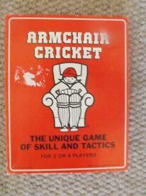 Vintage Armchair Cricket Card Game