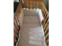 Mother care Darlington Cot with mattress