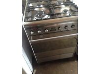 Smeg Stainless gas cooker 60cm.....Mint Free Delivery
