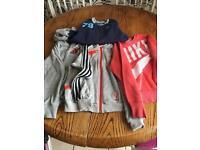 Boys sports sweatshirt/hoody bundle 8-10yrs
