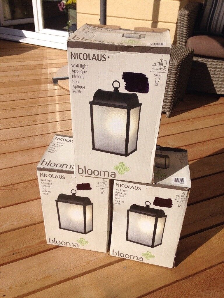 Outdoor wall lights new b and q in plymouth devon gumtree outdoor wall lights new b and q aloadofball Image collections