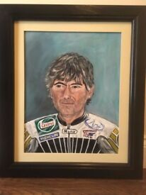 Joey Dunlop arcrylic painting