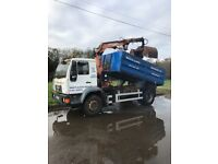 Man grab lorry hiab tipper grab