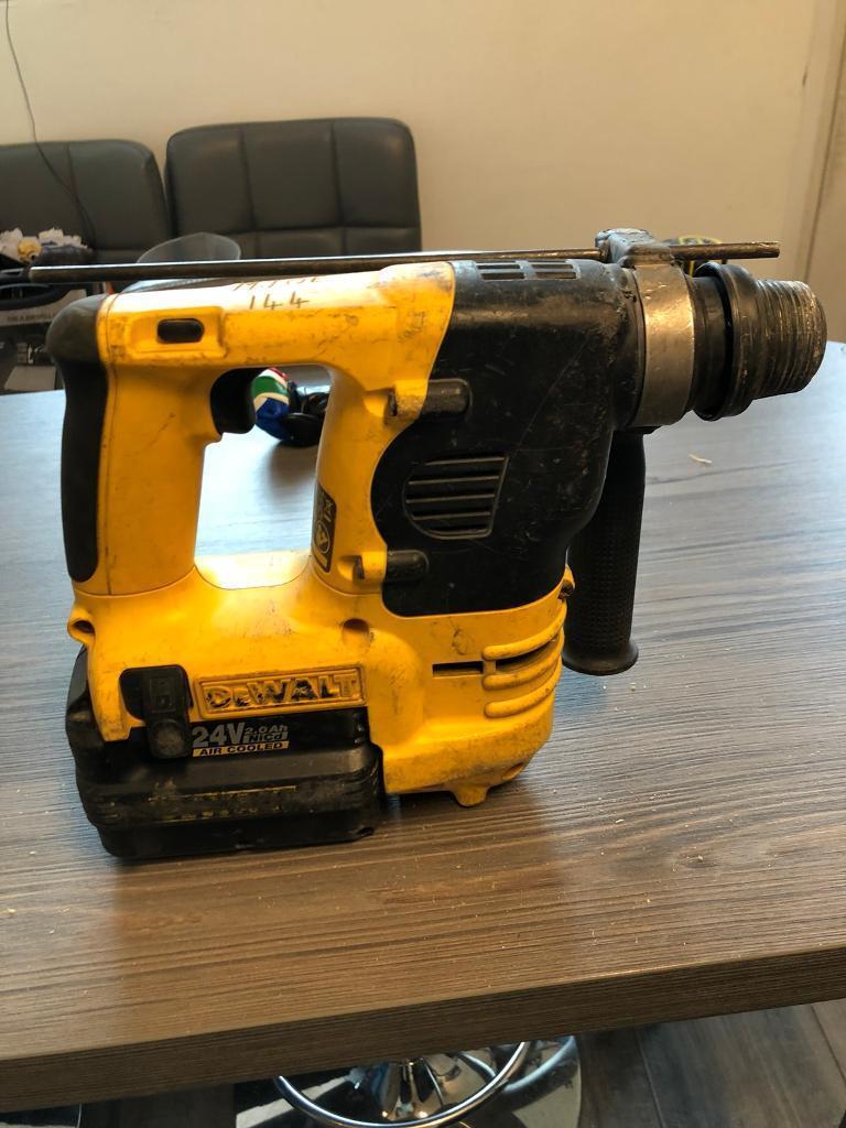 dewalt 24v sds drill 3 batteries in east end glasgow gumtree