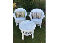 Wicker table and chairs as new ( can deliver )
