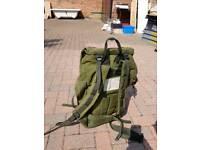 Vintage army surplus long rucksack