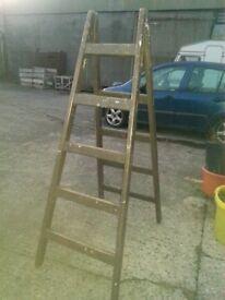 solid wood stepladder