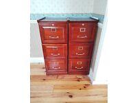 Mahogany Wood Filing Cabinets